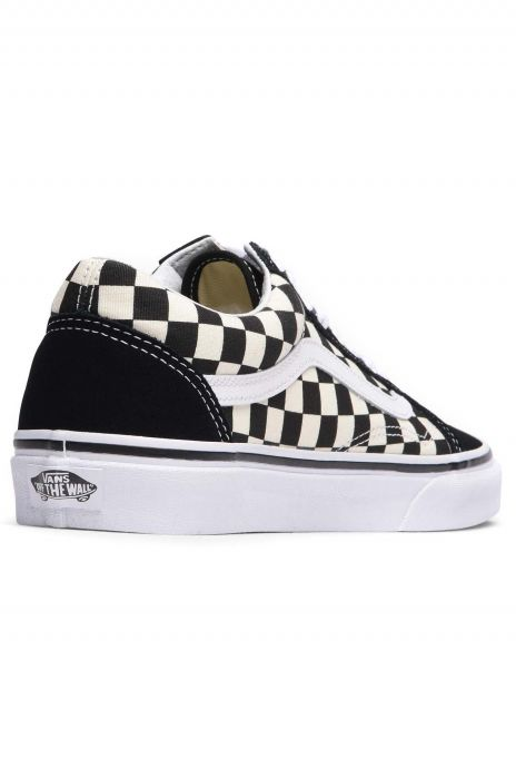 b4f71ed5a46 Vans Shoes OLD SKOOL (Primary Check) Black White 41