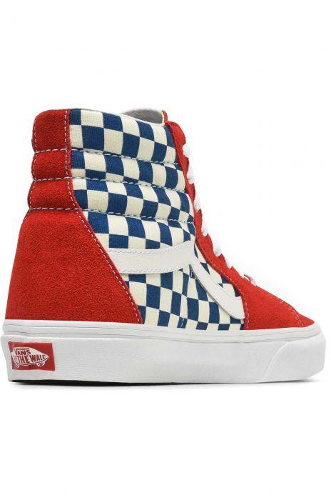 24a4c8d5986 Vans Shoes UA SK8-HI (Bmx Checkerboard) True Blue Red