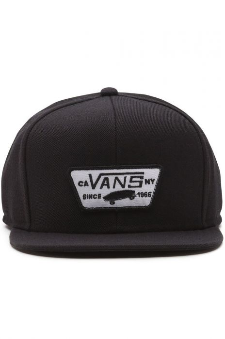 Bone Vans FULL PATCH SNAPBACK True Black 2ea461f2659