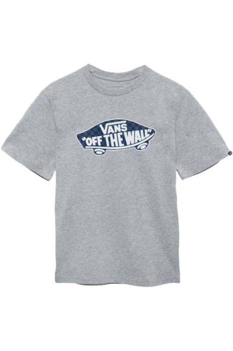 f076a2e95f Vans T-Shirt OTW LOGO FILL Athletic Heather True Blue Black Checkerboard