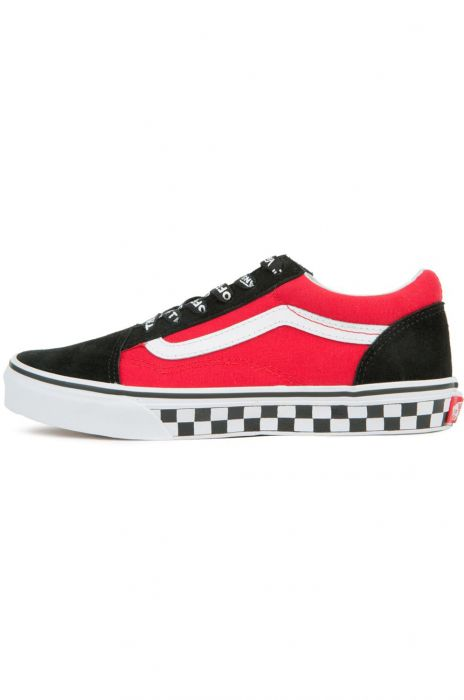 8eee10eeb51 Tenis Vans OLD SKOOL (Logo Pop) Black True White