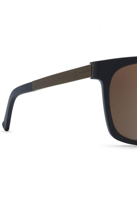 97a924f134a6c VonZipper Sunglasses PLIMPTON Black Satin Rust   Rust Gradient